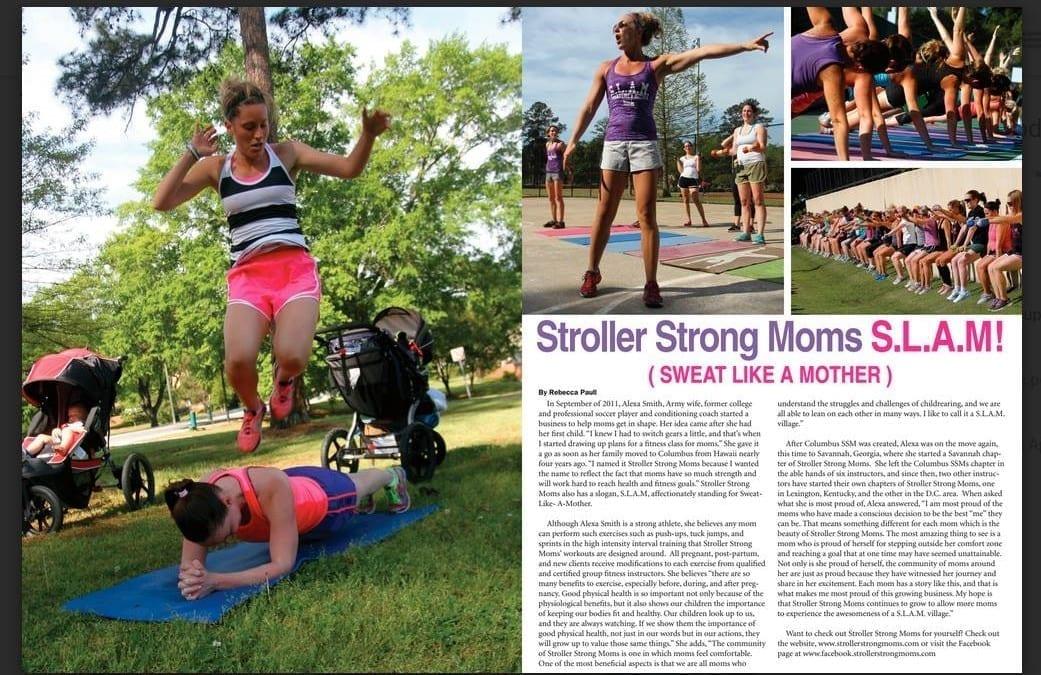 Stroller Strong Moms in 'her' Magazine